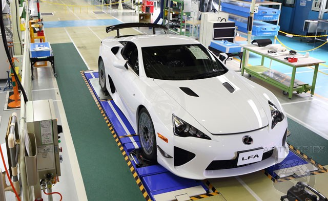 Lexus Rolls Final LFA Off The Production Line