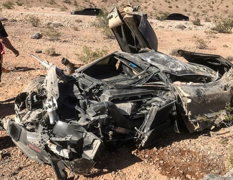 Police Discover Crashed McLaren Abandoned In Nevada Desert