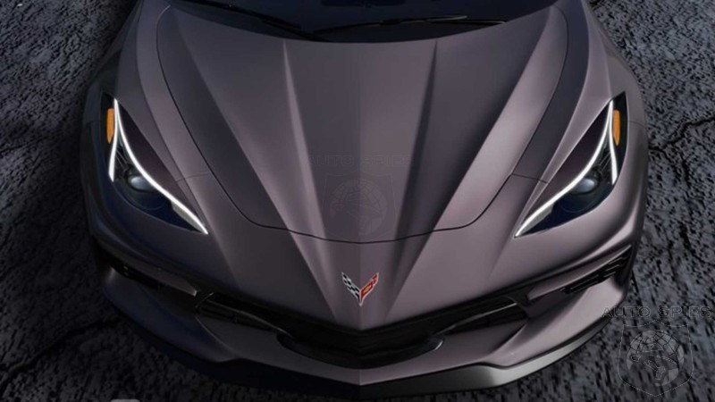 New Render Details Nose Of New C8 Corvette Minus Camouflage