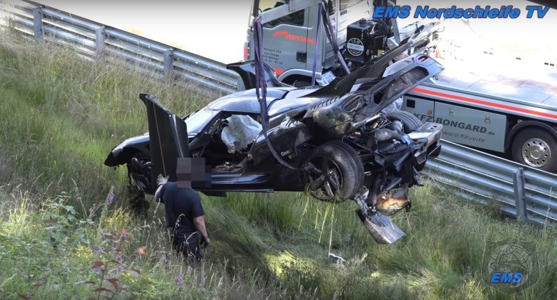 Video 1 341 Hp Koenigsegg One 1 Crashes In A Big Way At Nurburgring