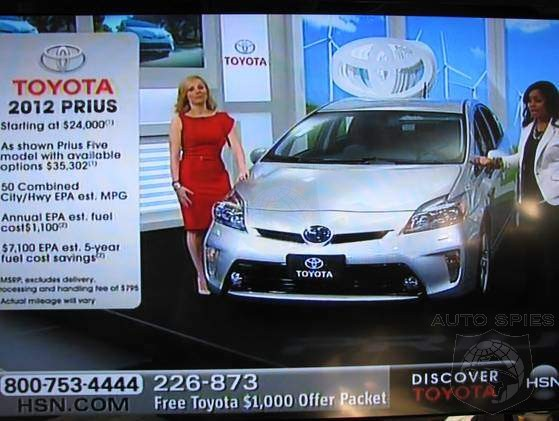 Huh? Toyota Begins Selling Hybrids On The Home Shopping Network