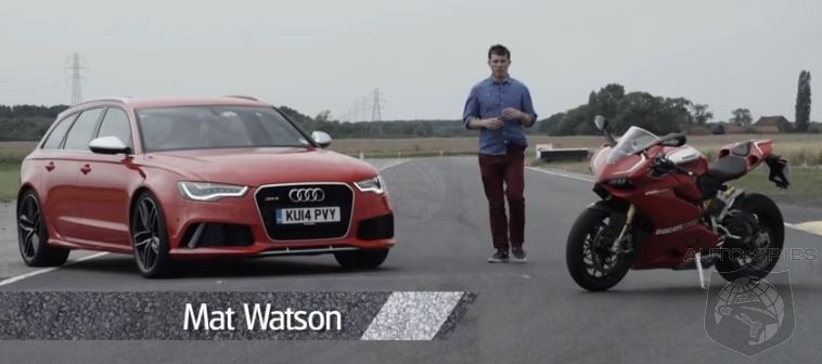 BATTLE OF THE BEASTS Audi RS6 Vs Ducati 1199 Panigale R Video Shootout