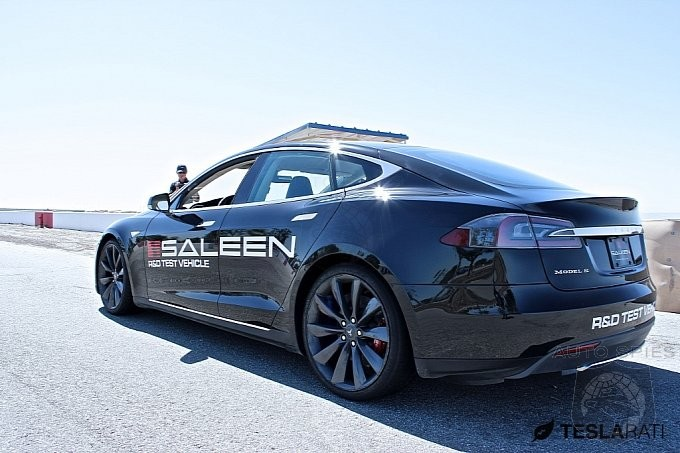 Tesla Goes Where No EV Maker Has Gone Before - Performance Saleen Model S Spied During Testing