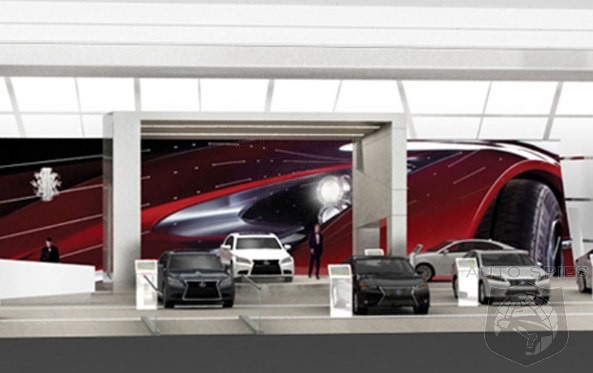 DETROIT AUTO SHOW: SPIED! Spies Give You The First Look Of The Lexus Booth At The Show!