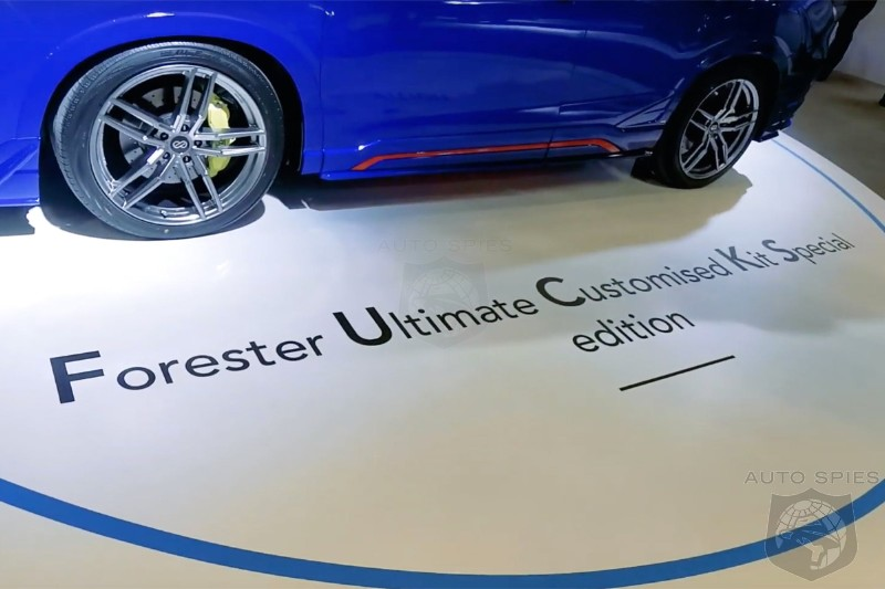 subaru backpeddles on offensivly named forester special edition