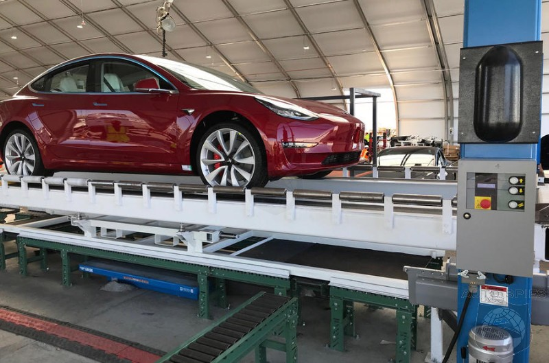First Model 3 Dual Motor Rolls Off The Assembly Line, But No $35K Base Models In Sight