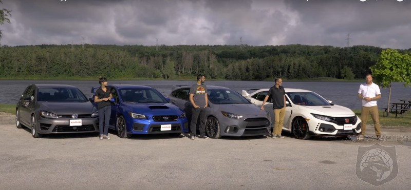 Track ATTACK: Civic Type R vs. Focus RS, WRX STI, and Golf R - Pick YOUR Winner