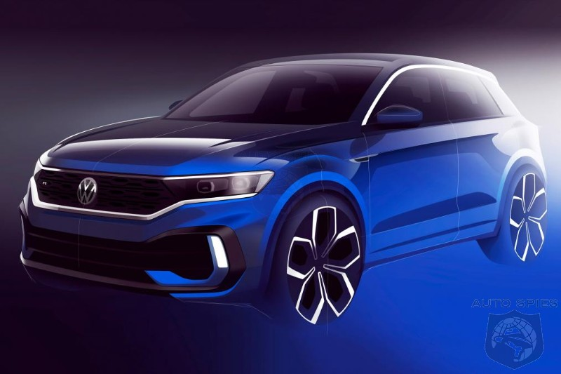 Volkswagen Releases Official Sketch Of T-Roc R Performance Crossover