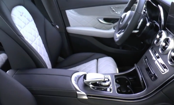 spied video the mercedes benz glc 39 s interior gets fully exposed in this all new clip. Black Bedroom Furniture Sets. Home Design Ideas