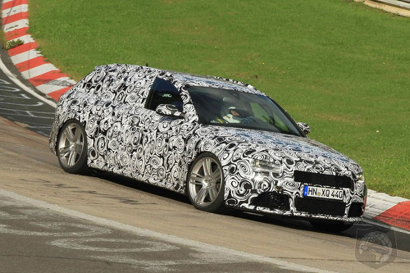 SPIED + VIDEO: Audi's Next-Gen RS4 SEEN & HEARD Ripping It Around The 'Ring