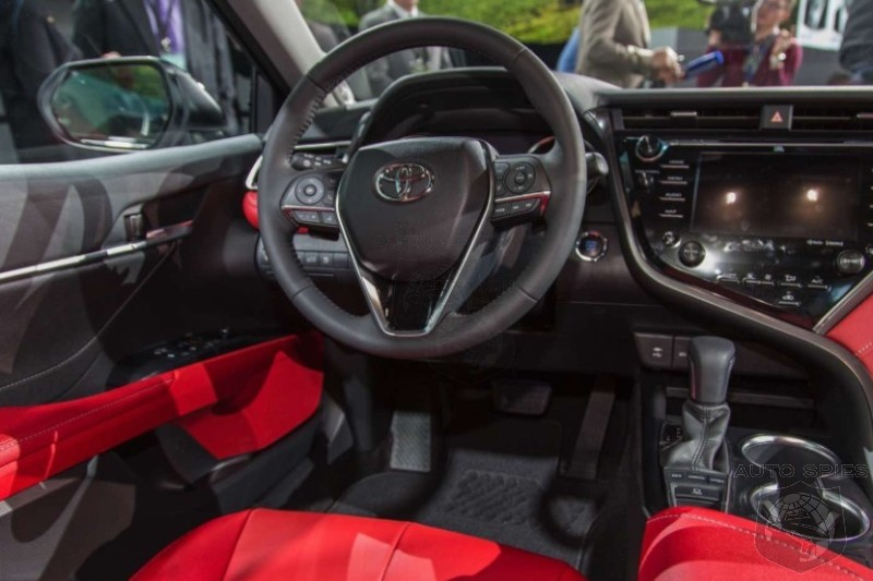 Naias The 2018 Toyota Camry S Aggression Continues On Inside Blood Red Leather