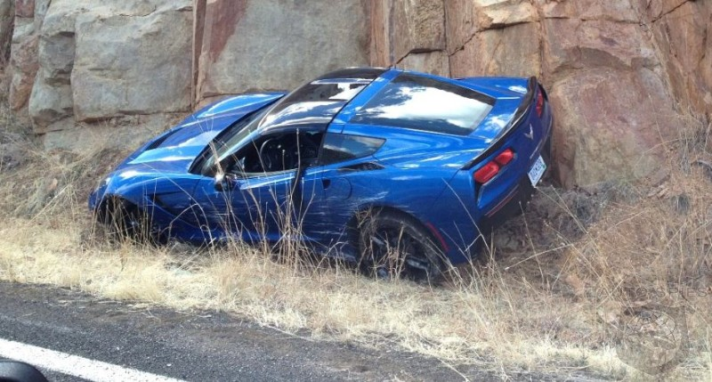 A FIRST For The 2014 Chevrolet Corvette! The First CRASH, That Is
