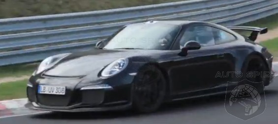 SPIED: + VIDEO: 2014 Porsche 911 (991) GT3 FLYING Around The 'Ring