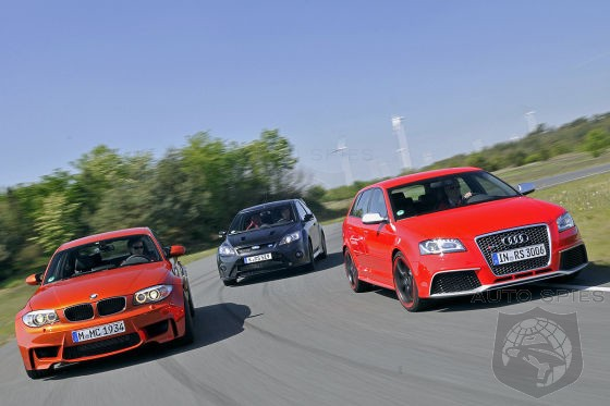Can You GUESS Who Wins This Showdown? BMW 1M vs. Audi RS3 vs. Ford Focus RS 500