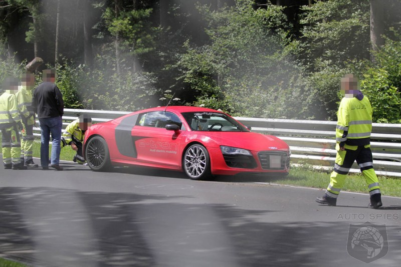 SPIED: An Audi e-Tron Has Some Unfortunate Luck On The 'Ring