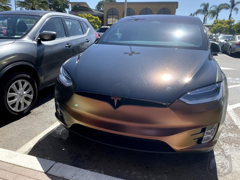 COOL Or The Decision Of A FOOL? What Do YOU Make Of This WRAPPED Tesla Model X?