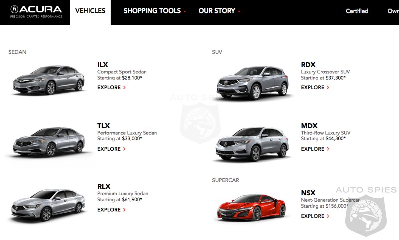 Honda Luxury Brand >> Why Doesn T Acura Have A Stunning Looking Vehicle In Its Product