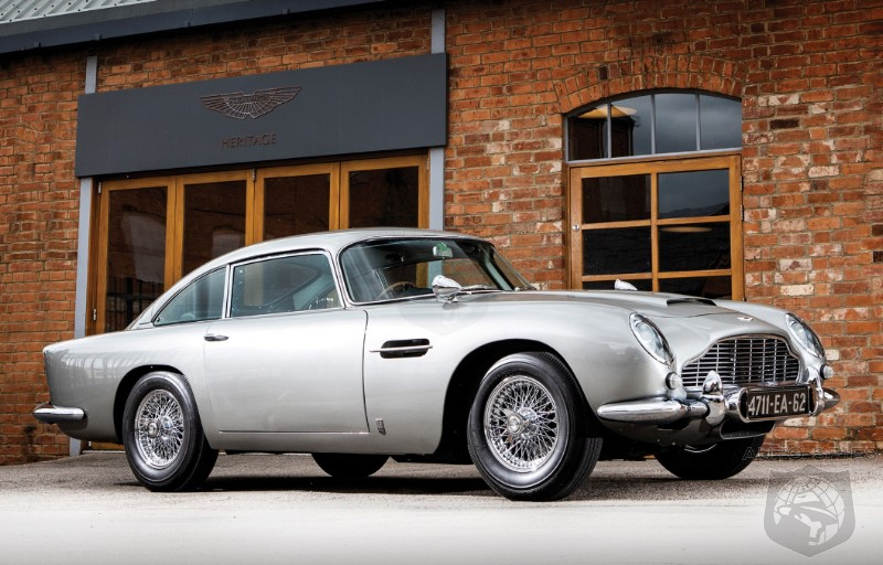 PEBBLEBEACH Off To The Races 007 s Aston Martin DB5 Sells For A Staggering 6 4MM In Monterey