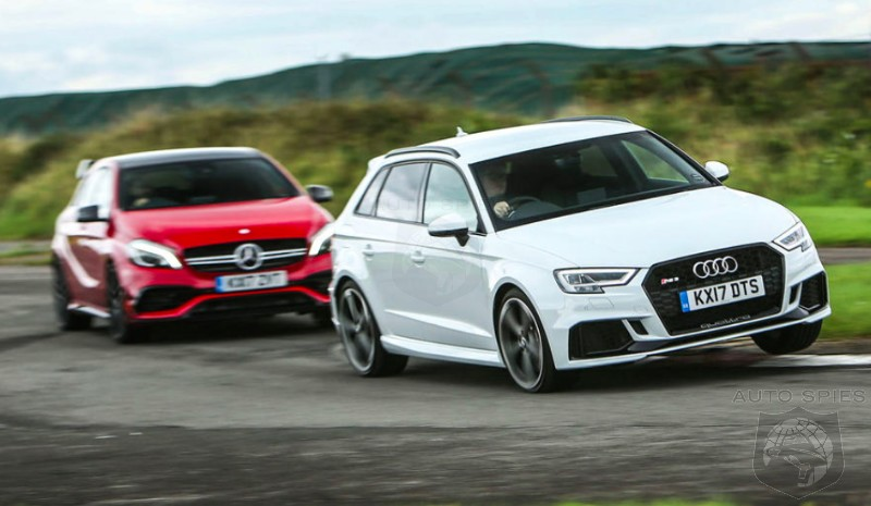CAR WARS! Hot Hatch Shootout Between Two German GIANTS — Audi RS3 vs. Mercedes-AMG A45