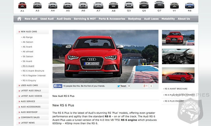 LEAKED! Audi U.K. Makes A MISTAKE And Posts Info About The RS6 Avant Plus