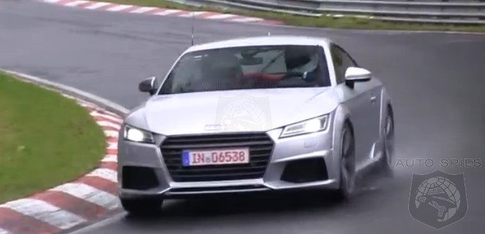 SPIED + VIDEO: Audi's All-New TT Spotted Testing Around The 'Ring, WET + SIDEWAYS
