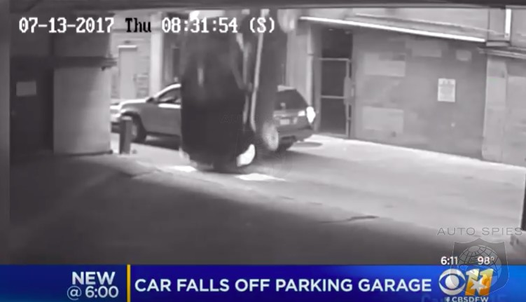 WOW! Security VIDEO Captures BMW 4-Series Convertible's Seven-story Plunge In Austin