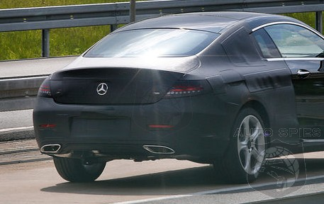 SPIED: Mercedes-Benz's All-New C-Class Coupe EXPOSED More Than Ever — Minimal Camouflage Reveals Key Design Features