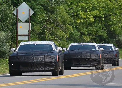 SPIED: FIRST Shots Of The Ford Mustang Chasin', All-New Chevrolet Camaro