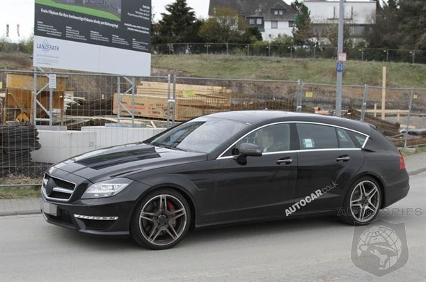 SPIED: Mercedes-Benz's CLS 63 AMG Shooting Brake Advances In Its Development