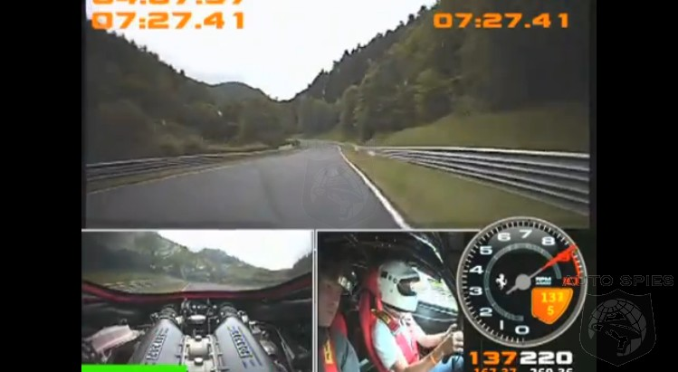 VIDEO: EXACTLY What You DON'T Want To Happen At 130+ MPH In A Ferrari On The 'Ring