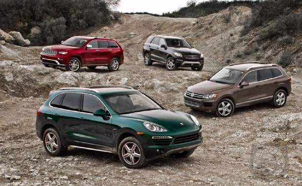 WARS! 2014 Jeep Grand Cherokee vs. Mercedes ML vs. Porsche Cayenne vs ...