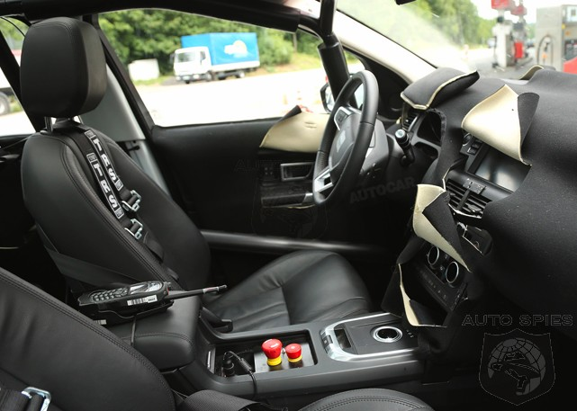 SPIED FIRST INTERIOR Shots Of The All New Land Rover Discovery Sport Notice Something MISSING