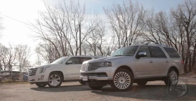 car wars big ass american suv edition cadillac escalade vs lincoln navigator autospies auto. Black Bedroom Furniture Sets. Home Design Ideas