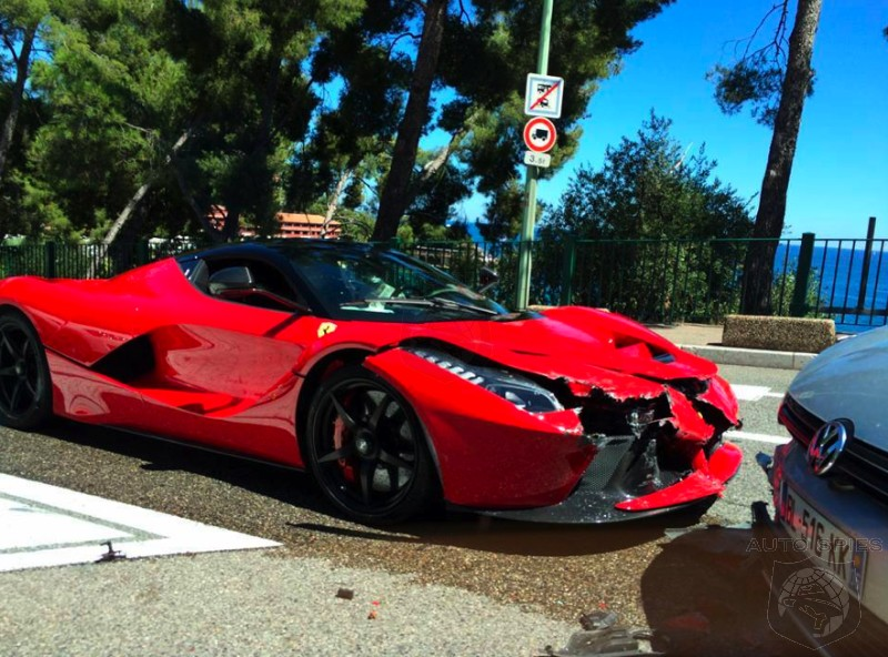 OUCH! FIRST Ferrari LaFerrari Crash Will NOT Buff Right Out