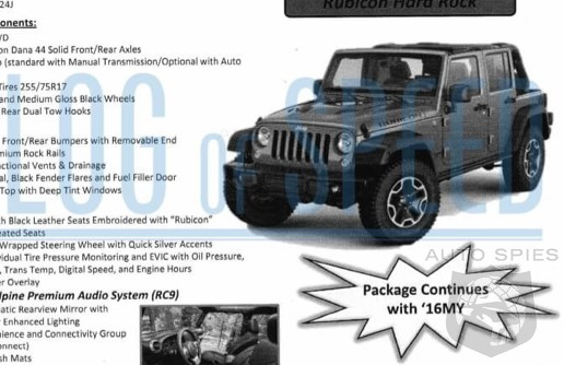 Spied Jeep Fans Unite 2016 Wrangler Order Guide Lets You Track The Changes