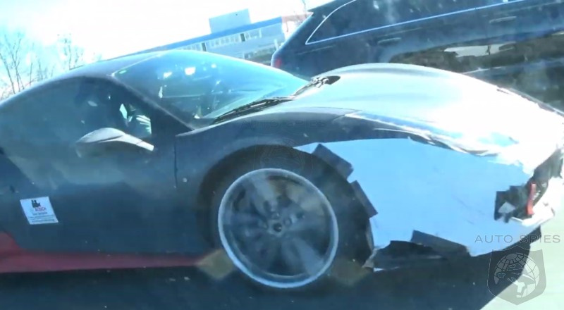 SPIED + VIDEO: Nabbed On Film, ANOTHER Look At Ferrari's Midengine, V8 Hybrid