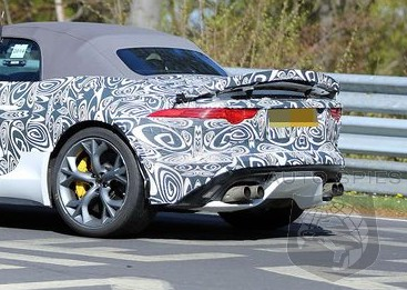 SPIED: FIRST Spy Photos Of Jaguar Track Testing A MORE Hardcore F-Type Convertible