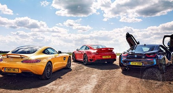Car Wars Bmw I8 Vs Mercedes Amg Gt Vs Porsche 911 Turbo Which