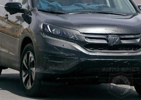 SPIED: NEW Spy Shots Of The 2016 Honda CR-V Refresh! BETTER Angles Than Before!