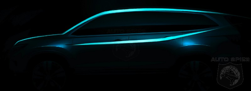 CHICAGO AUTO SHOW TEASED 2016 Honda Pilot Set To Land What Does It NEED To Keep Competition At Bay