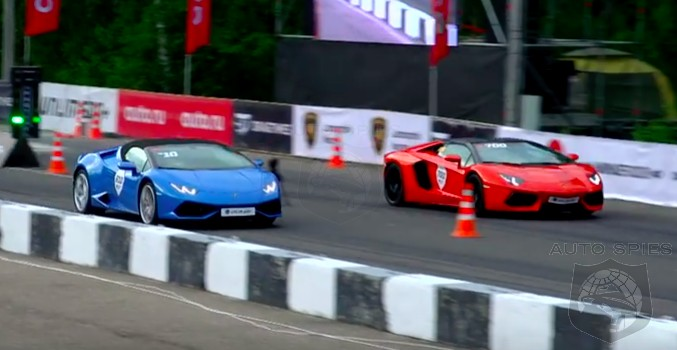 VIDEO: Sibling Rivalry! Lamborghini's Aventador Roadster Takes On The Huracan Spyder In A DRAG RACE