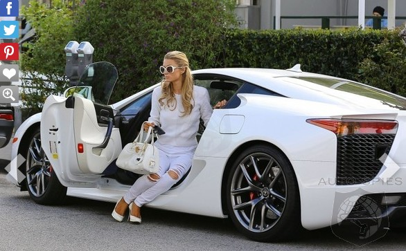 SPIED: The Original Girl Famous For Nothing, Paris Hilton, Spotted Behind The Wheel Of Her Lexus LFA