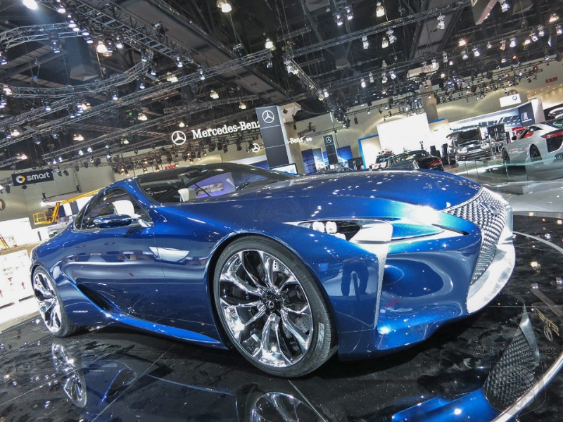 LA AUTO SHOW: EXCLUSIVE Shots From The Floor - FIRST Shots Of Lexus' LF-LC In BLUE