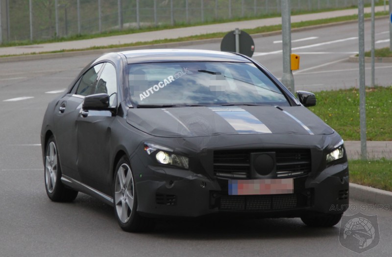 SPIED: NEW Photos Of Mercedes-Benz's CLA Wearing LESS Camo Hit The 'Net