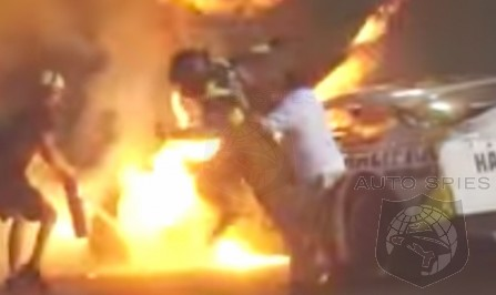 VIDEO: Father RUNS To Save Son From Fiery NASCAR Crash, But You Won't Believe What Happens NEXT