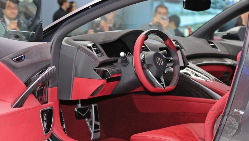 DETROIT AUTO SHOW: Acura Rolls Out A NEW NSX Concept - FIRST Look At Its Interior!