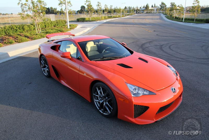 Now That The Custom Ordered Lexus LFAs Are Appearing, How's Sunset Orange Rub You?