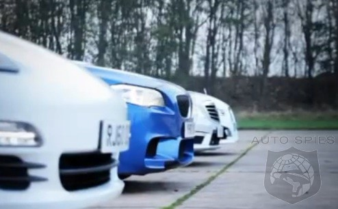 VIDEO: Sport Sedan Drag RACE - BMW M5 vs. Mercedes-Benz E63 AMG vs. Jaguar XFR vs. Porsche Panamera S
