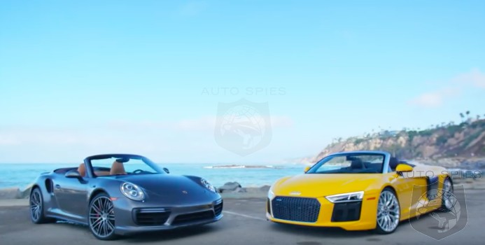CAR WARS The Age old Debate Emotion Vs Speed The Audi R8 Spyder Vs The Porsche 911 Turbo