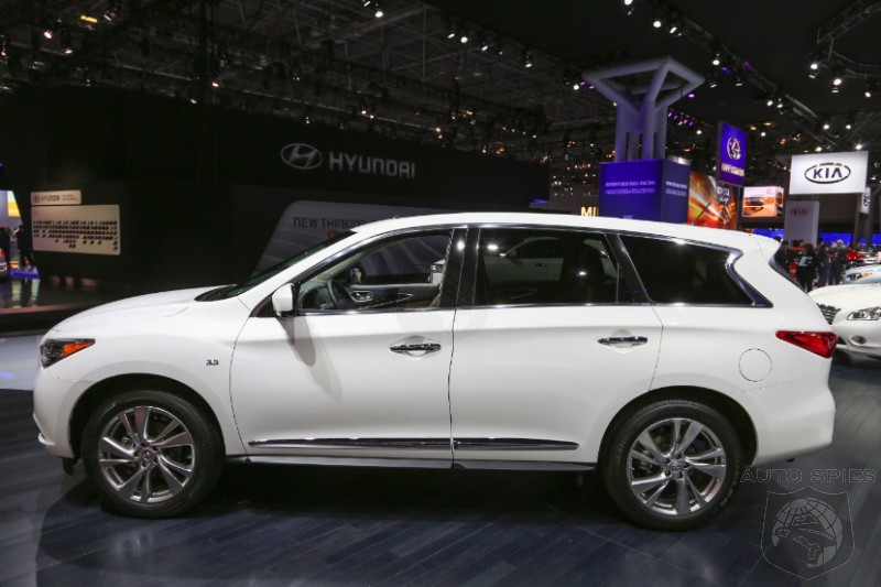 NEW YORK AUTO SHOW: Infiniti Gives The JX A NEW Name, A NEW Powertrain But Its Looks Stay The SAME